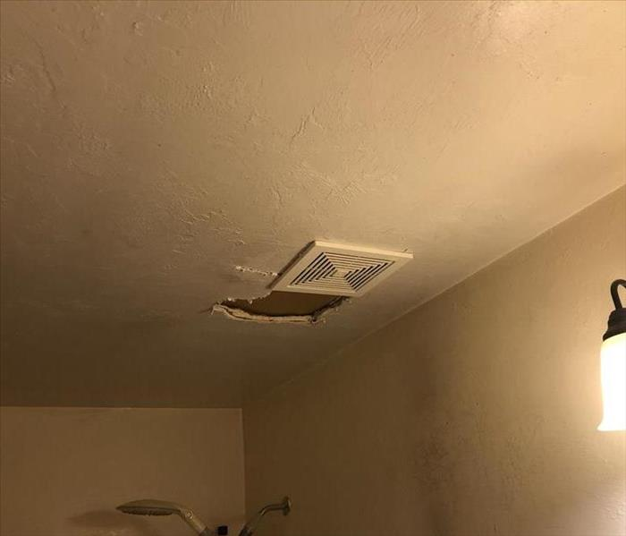 Ceiling Damage Around Exhaust Fan