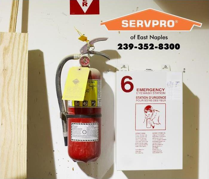 Emergency Eye Wash Station and Fire Extinguisher